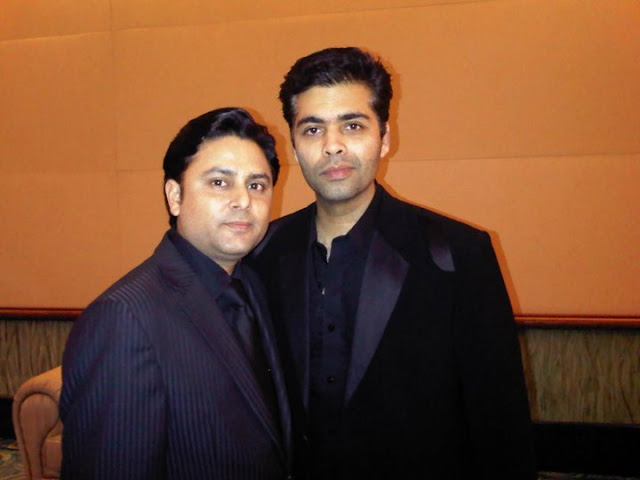 Celebrity Astrologer Sundeep Kochar with Karan Johar